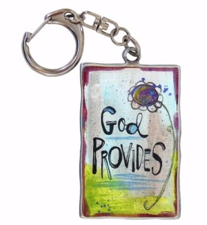 God Provides Key Ring on Swivel Clip