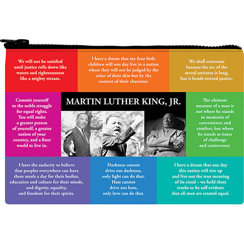 Martin Luther King Jr. Zipper Pouch with Quotes