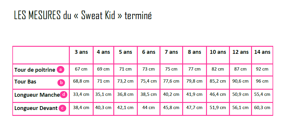 "Patron ""Le Sweat Kid"" - PDF"