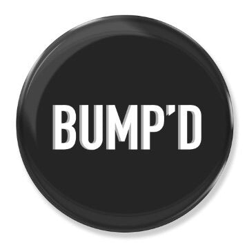 Black Bump'D Smart Tag - Bump'D Sticker | Bump'D