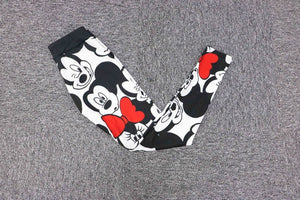 Minnie Mickey Mouse Yoga Gym Leggings