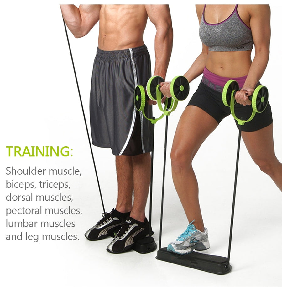 Abdominal Wheels Roller Trainer Stretch