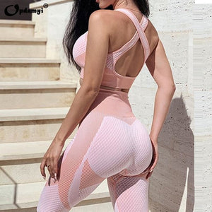 Seamless Workout Yoga Female Suit