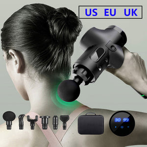 Massage gun with LCD display