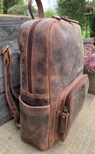Load image into Gallery viewer, Distressed Leather Backpack - Brown - LavenderLime
