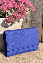 Load image into Gallery viewer, Large Leather Purse - Blue - LavenderLime