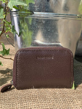 Load image into Gallery viewer, Leather Card Holder Purse - Chocolate Brown - LavenderLime