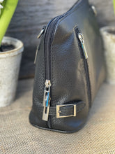 Load image into Gallery viewer, Leather Cross Body Bag - Black - LavenderLime