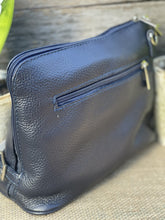 Load image into Gallery viewer, Leather Cross Body Bag - Navy Blue - LavenderLime