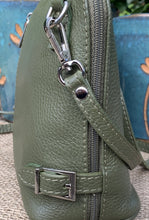 Load image into Gallery viewer, Leather Cross Body Bag - Olive Green - LavenderLime
