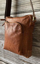 Load image into Gallery viewer, Leather Crossbody Bag - Walnut Brown - LavenderLime