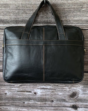 Load image into Gallery viewer, Leather Laptop Bag - Dark Brown - LavenderLime