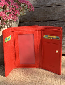 Leather Purse - Red - LavenderLime