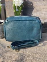 Load image into Gallery viewer, Leather Tassel Bag - Teal Green - LavenderLime