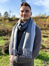 Load image into Gallery viewer, Plain Reversible Scarf - Grey/Pale Grey - LavenderLime