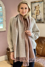 Load image into Gallery viewer, Reversible Large Tree Of Life Scarf - Dusky Pale Pink/Pale Grey - LavenderLime