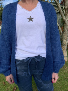 Sequin Star Long Sleeved T-Shirt - White - LavenderLime
