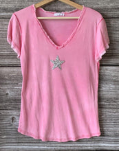 Load image into Gallery viewer, Sequin Star T-Shirt - Fuchsia Pink - LavenderLime