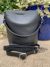 Load image into Gallery viewer, Small Soft Leather Handbag - Black - LavenderLime