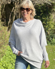 Load image into Gallery viewer, Soft Knit Asymmetrical Jumper - Pale Grey - LavenderLime