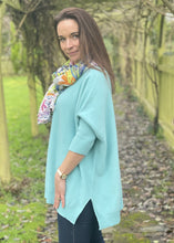 Load image into Gallery viewer, Soft Knit Baggy Jumper - Aqua Green - LavenderLime