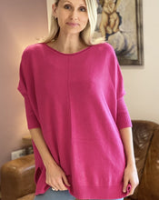 Load image into Gallery viewer, Soft Knit Baggy Jumper - Fuchsia Pink - LavenderLime