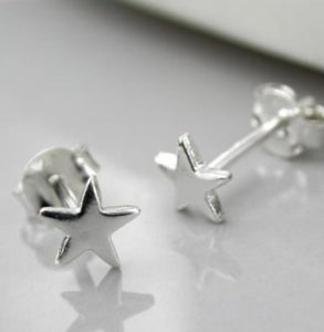 Sterling Silver Star Stud Earrings - LavenderLime