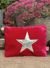 Load image into Gallery viewer, Velvet Star Coin Purse - Fuchsia - LavenderLime
