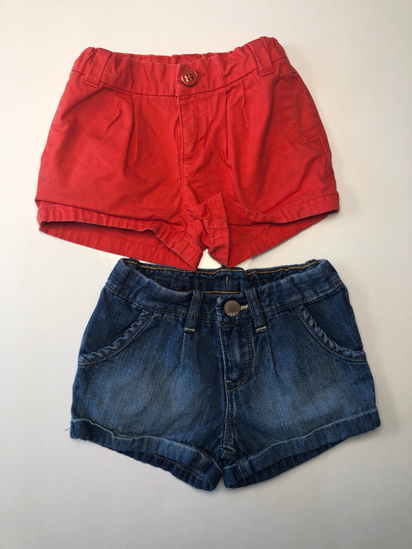 Lot de 2 shorts fille - 2 ans