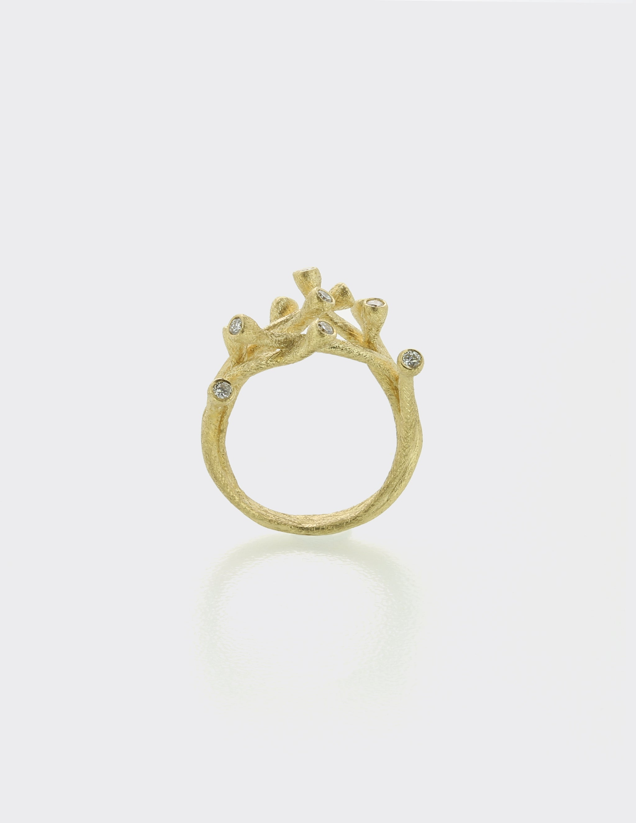 Branch ring with diamonds