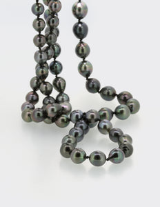 Long Tahitian Pearl Necklace