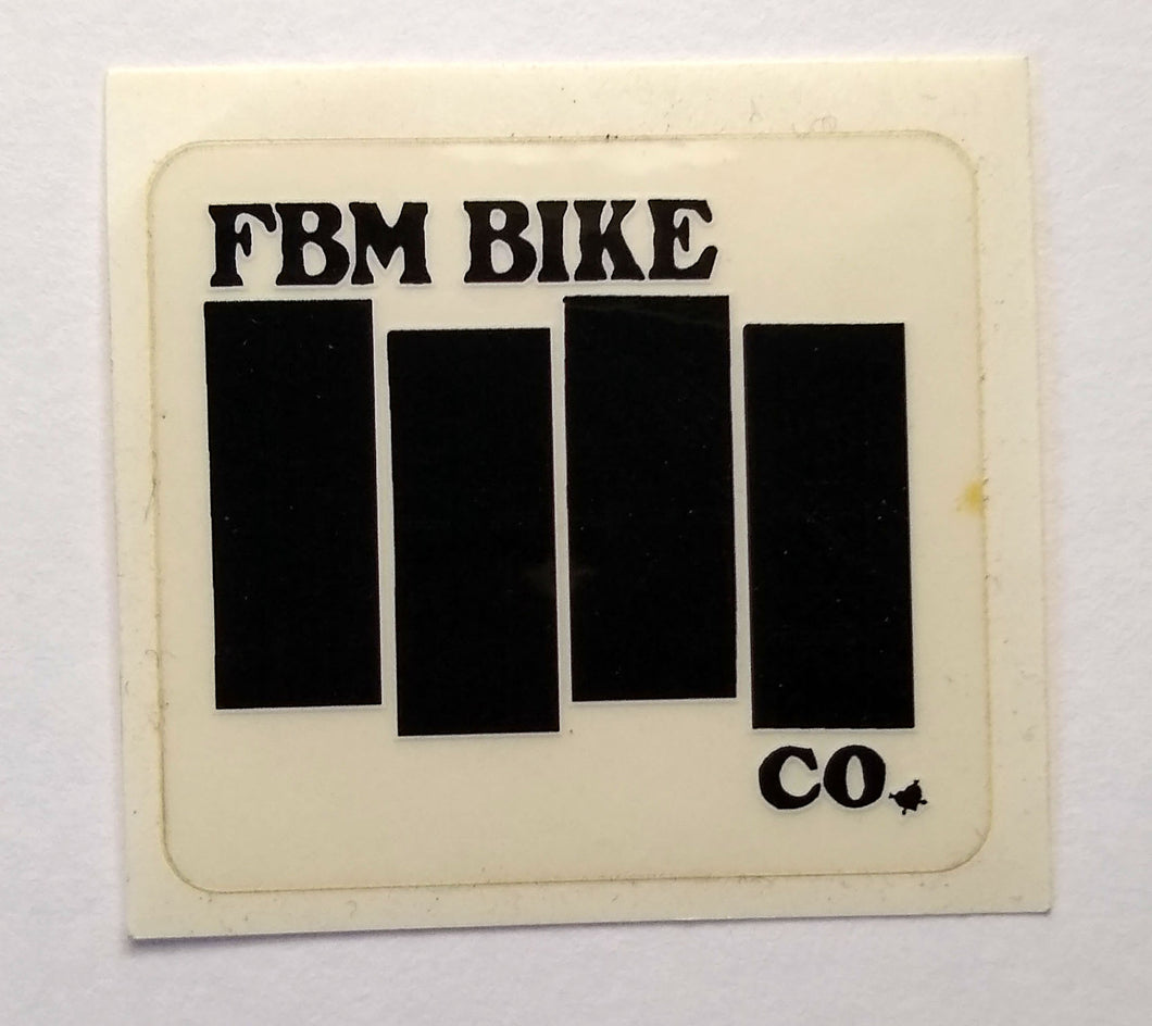 FBM Black Flag Bars Sticker