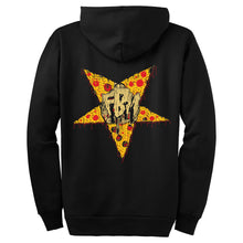 Load image into Gallery viewer, FBM Pizzagram Zip Up Hooded Sweatshirt