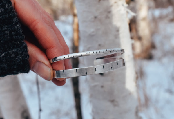 Simple Birch Bark Cuff - Double Wide