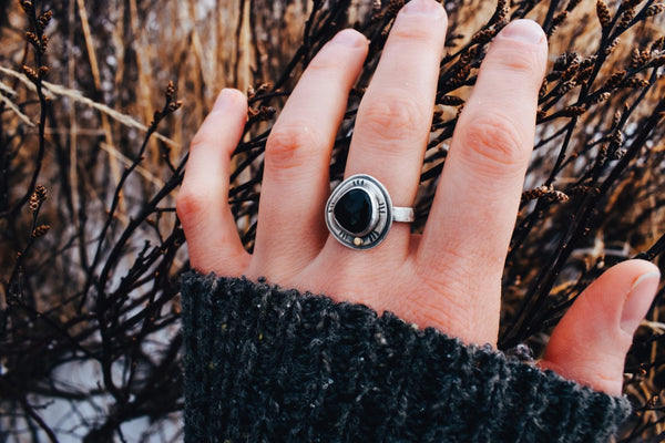 Midnight Sun Ring - Size 7 to 8