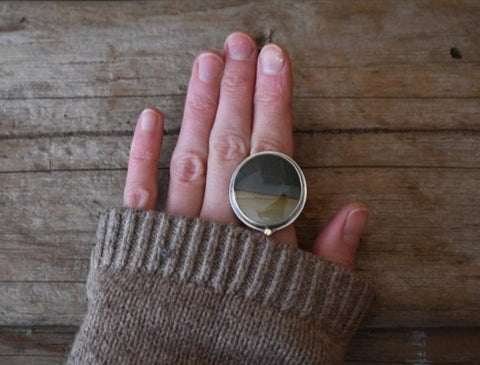 Earth Dweller Ring - Size 8 to 8 1/2