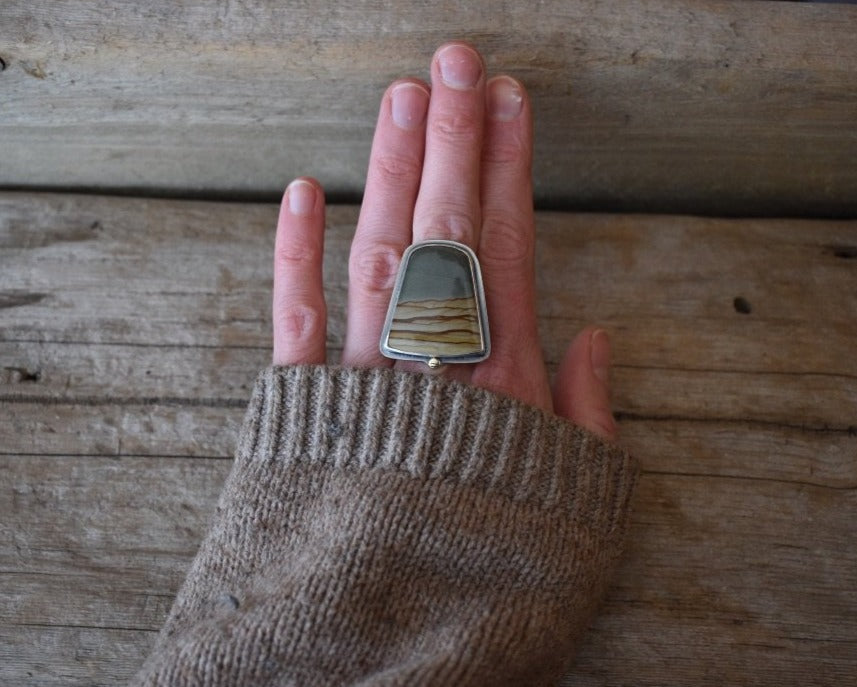 Earth Dweller Ring - Size 6 to 6 1/2