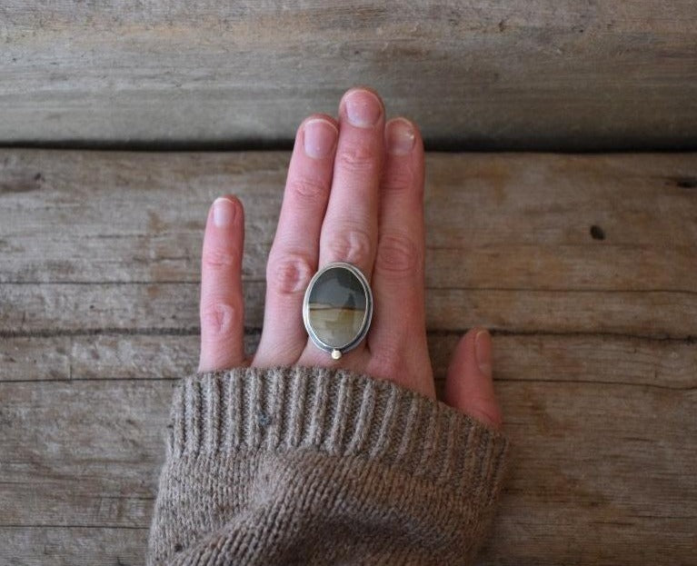 Earth Dweller Ring - Size 7 to 7 1/2