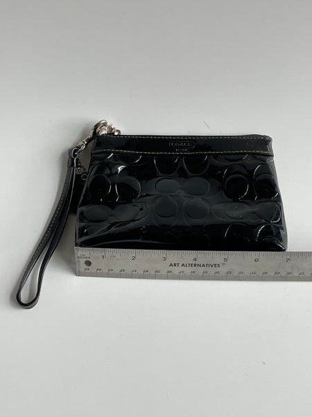 Patent wristlet by Coach