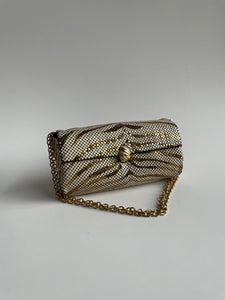 Zebra print evening bag