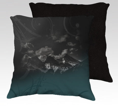 3 Sisters BW + Deep Teal Pillow Cover