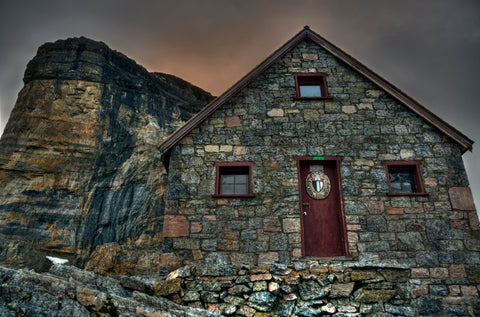 Wall Print on Wood or Canvas: Abbot Hut