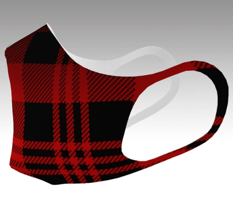 Double Knit Mask: Cozy Plaid