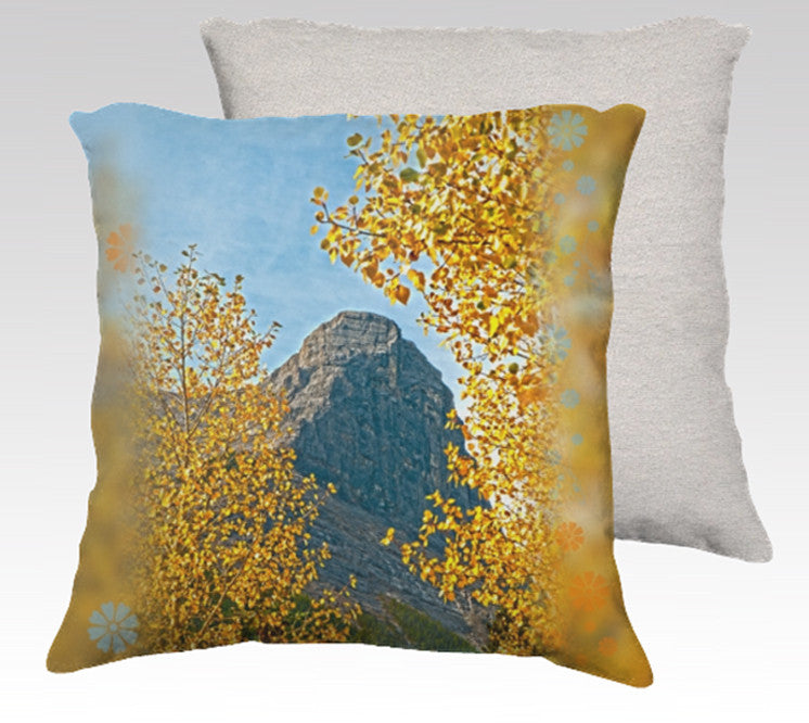 Ha Ling at Canmore in autumn. Pillow Cover