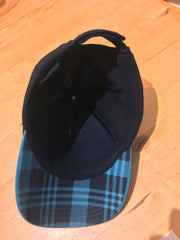 Morning Rundle hat under brim with blue plaid