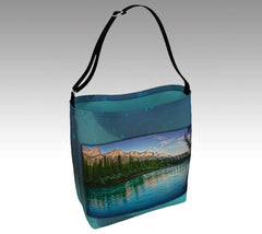 Bow River Mount Rundle Engine Bridge Canmore Tote