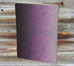 The back of the Night Rundle book is lavender, purple, and black with a pretty design