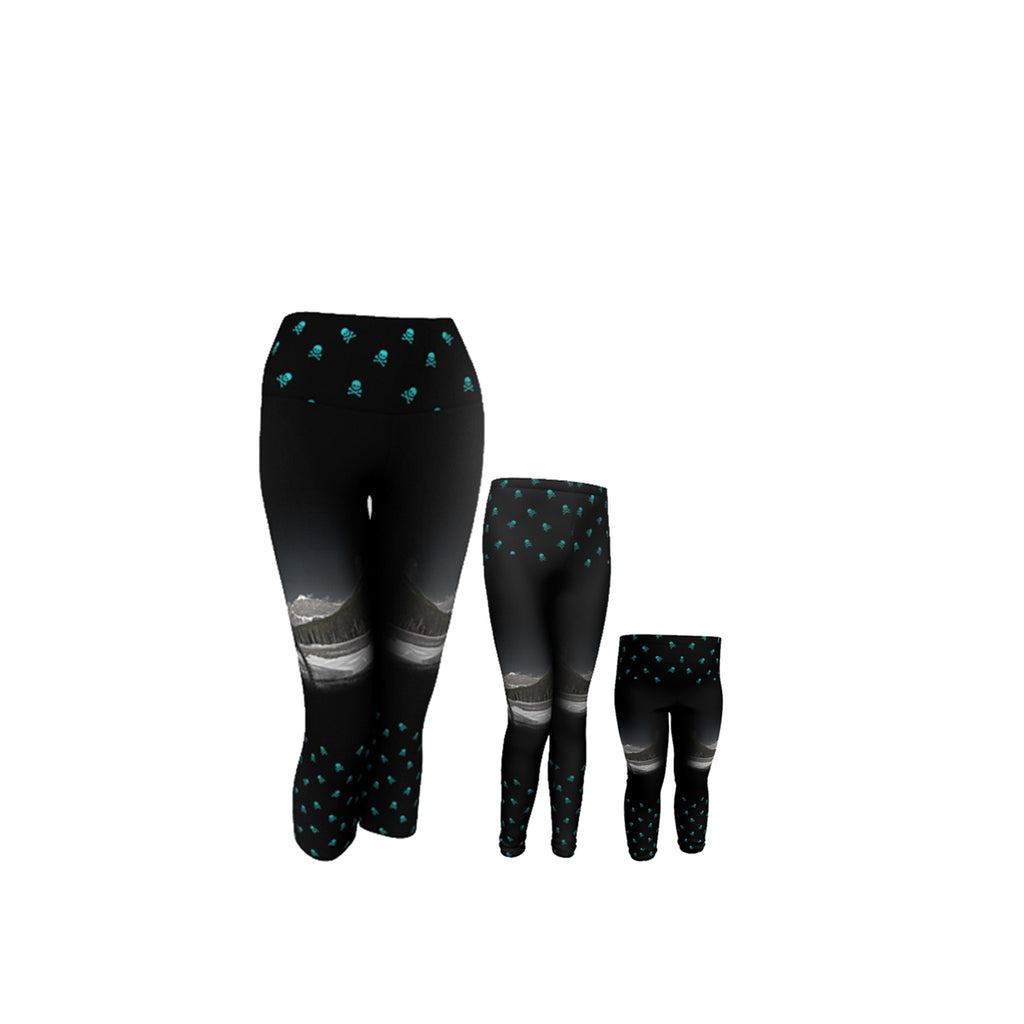 Rock & Roll Matching leggings and capris with Canmore Photo