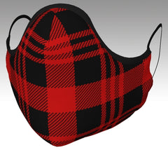 Red and Black Plaid mask front