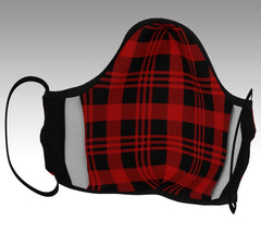 Red and Black Plaid mask inside